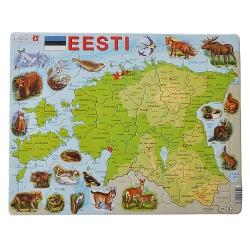 Eesti maakaart loomadega pusle