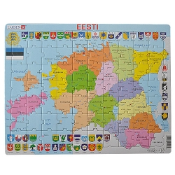 Eesti maakondade kaart pusle