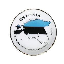 Eesti maakaardiga portselan magnet.