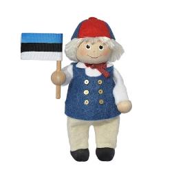 Rahvuslik poiss Eesti lipuga